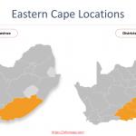 Eastern Cape Map with districts and municipalities boundaries,  Nelson Mandela Bay Municipality, Buffalo City Municipality