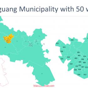 Free State Map with districts and municipalities boundaries, Nelson Mandela Bay Municipality, Buffalo City Municipality