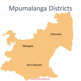 Mpumalanga Map with districts and municipalities boundaries, Ward maps of Mbombela Municipality