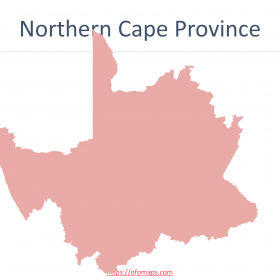 Nothern Cape Map with districts and municipalities boundaries, Ward maps of Sol Plaatje Municipality