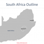 South Africa Map with provinces, districts, and municipalities.