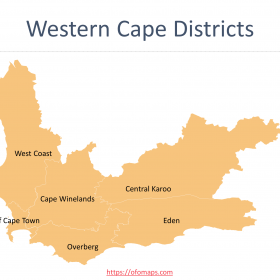Western Cape Map with districts and municipalities boundaries, Ward maps of City of Cape Town Municipality